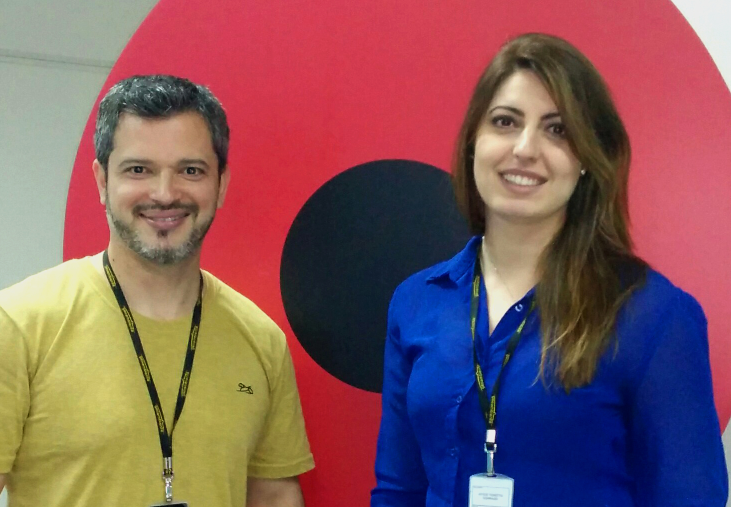 Tiago Pinheiro e Joyce Tosetto, da Geoambiente.