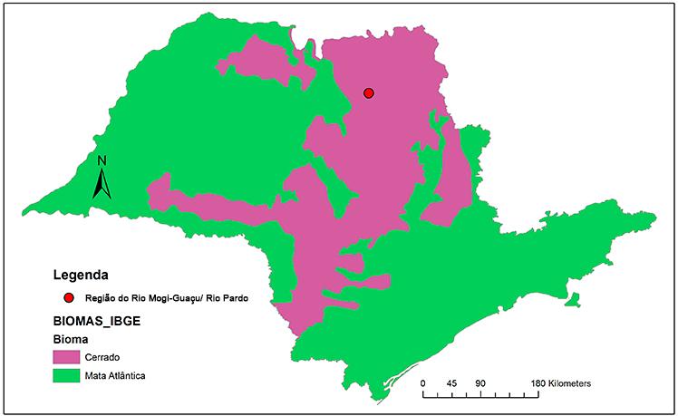 Local do projeto: Região do Rio Mogi-Guaçu/ Rio Pardo