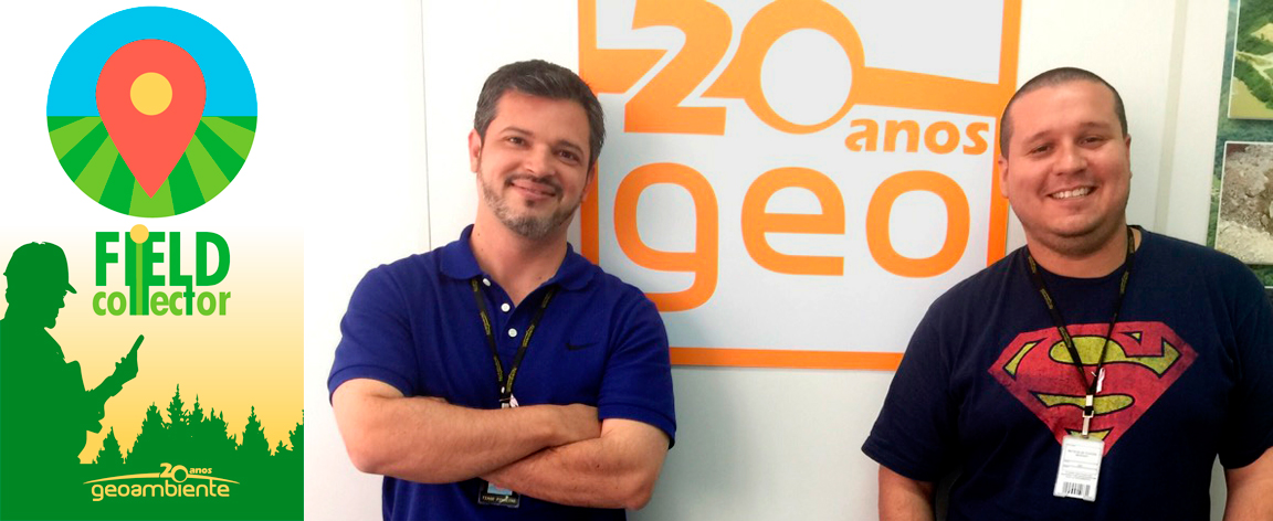 Tiago Pinheiro e Mateus Pontes, desenvolvedores do Field Collector.